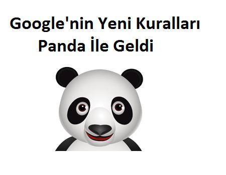 Google'nin Yeni Kuralları Panda İle Geldi