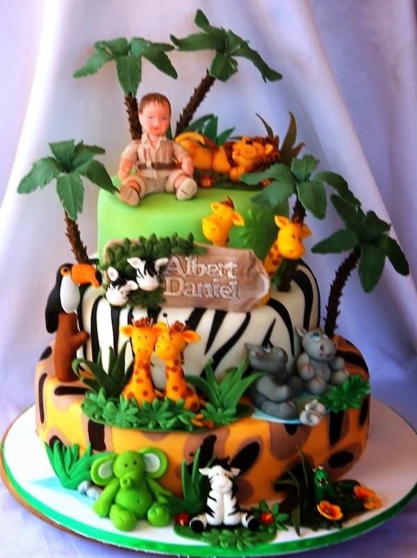 Bolos Tema Safari Para Festa Infantil Modelos Toda Atual