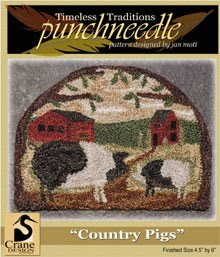 "Country Pigs Punchneedle 4.5"" by 6"""