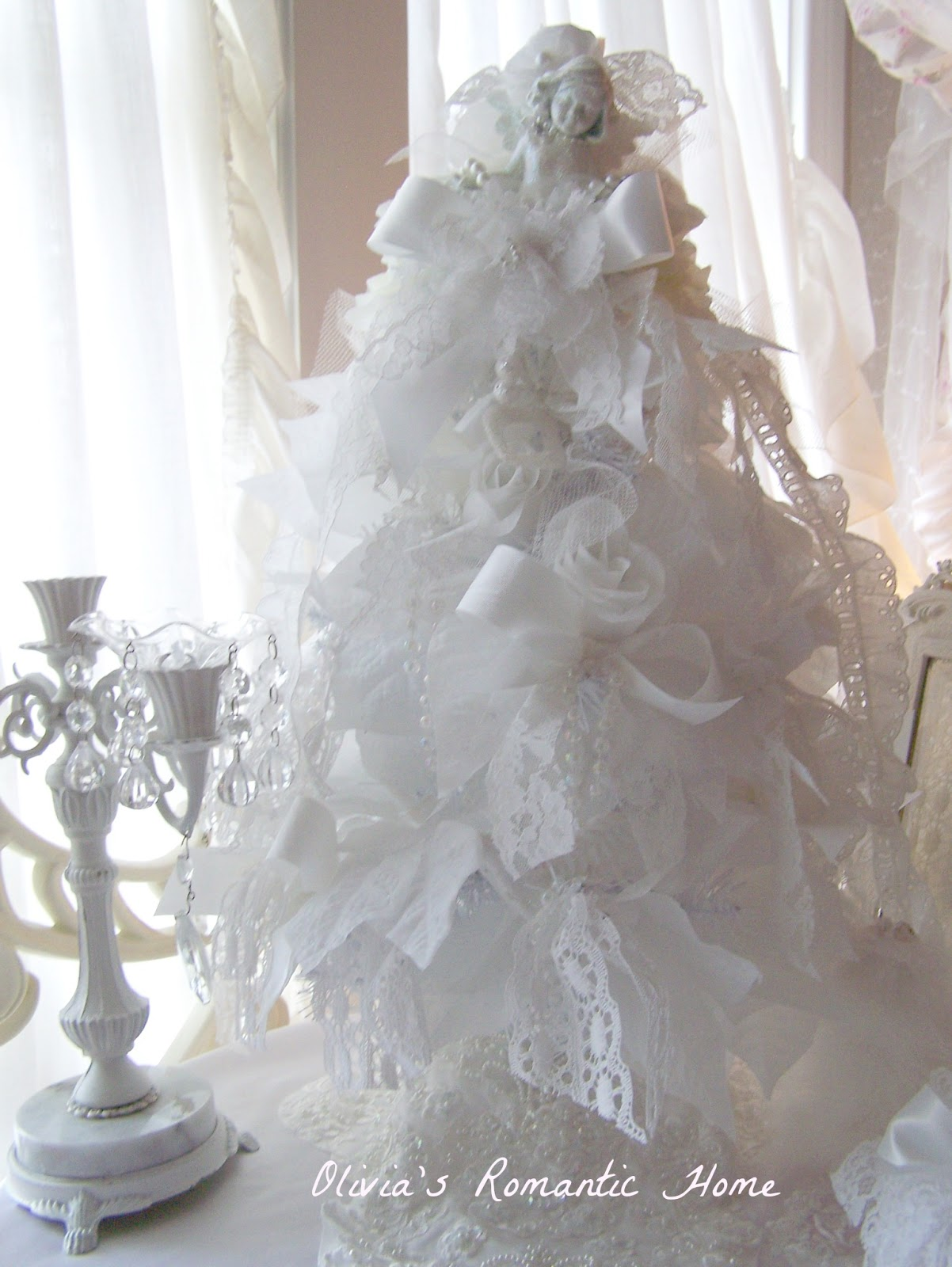 Olivia 39 s romantic home shabby chic christmas tree - Navidad shabby chic ...