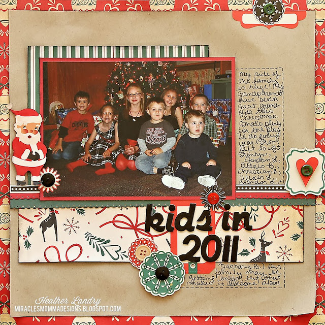 Cosmo Cricket_Scrapbook Page_Christmas_Group Photo