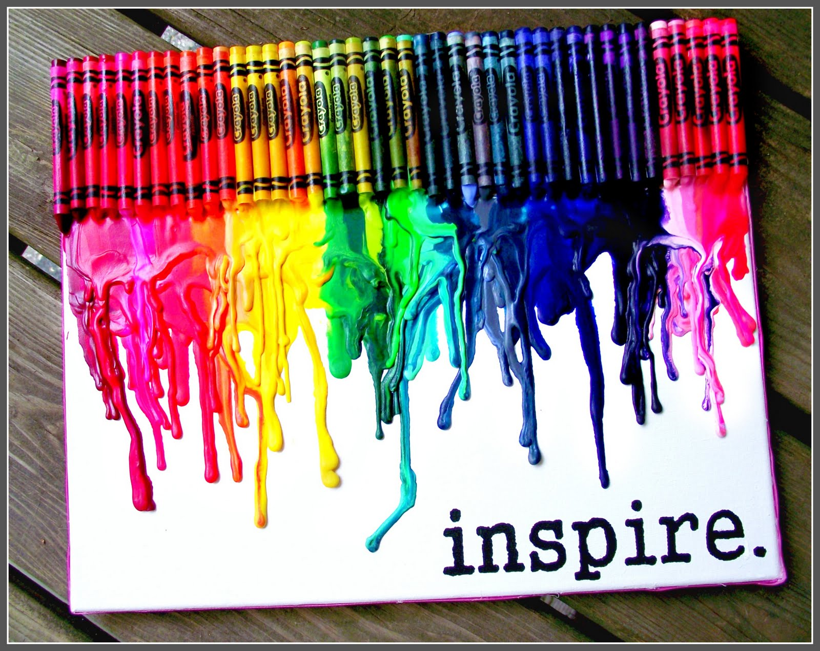 wingledings melted crayon wall art
