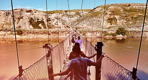 rosedale suspension bridge alberta travel photography series