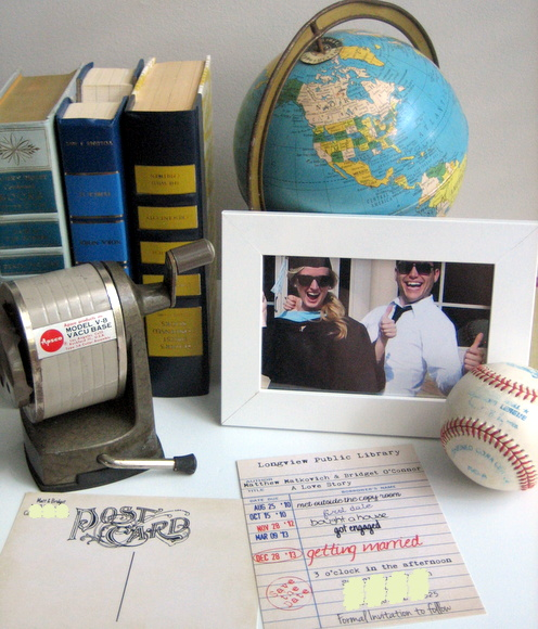 unique save the date: Wedding Save The Date Card Idea: Library Cards   DIY Playbook