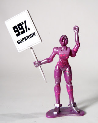 &#8220;Occupy Cybertron&#8221; Autobot Protester 3 Inch Resin Figure by Sucklord