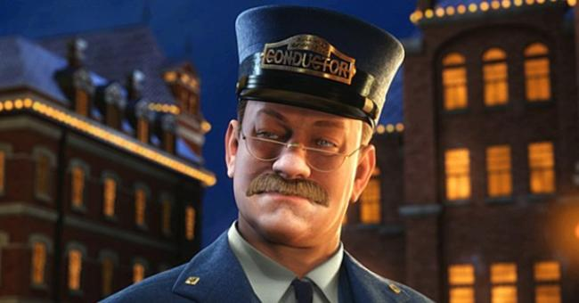 Tom Hanks is the Conductor Polar Express 2004 animatedfilmreviews.blogspot.com