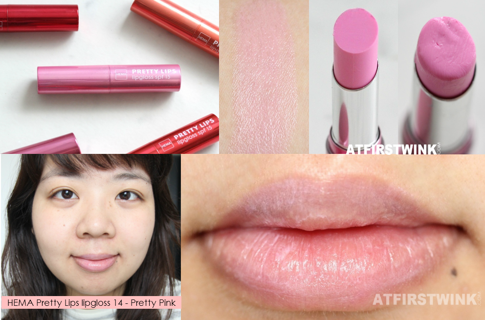 HEMA Pretty Lips lipgloss 14 - Pretty Pink review