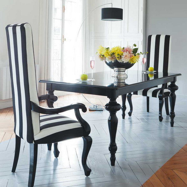 Seaseight design blog fashion design ss 2013 trend for Dining room ideas black and white