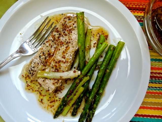 The Briny Lemon: Roasted Mahi-Mahi and Asparagus with Maple-Mustard ...