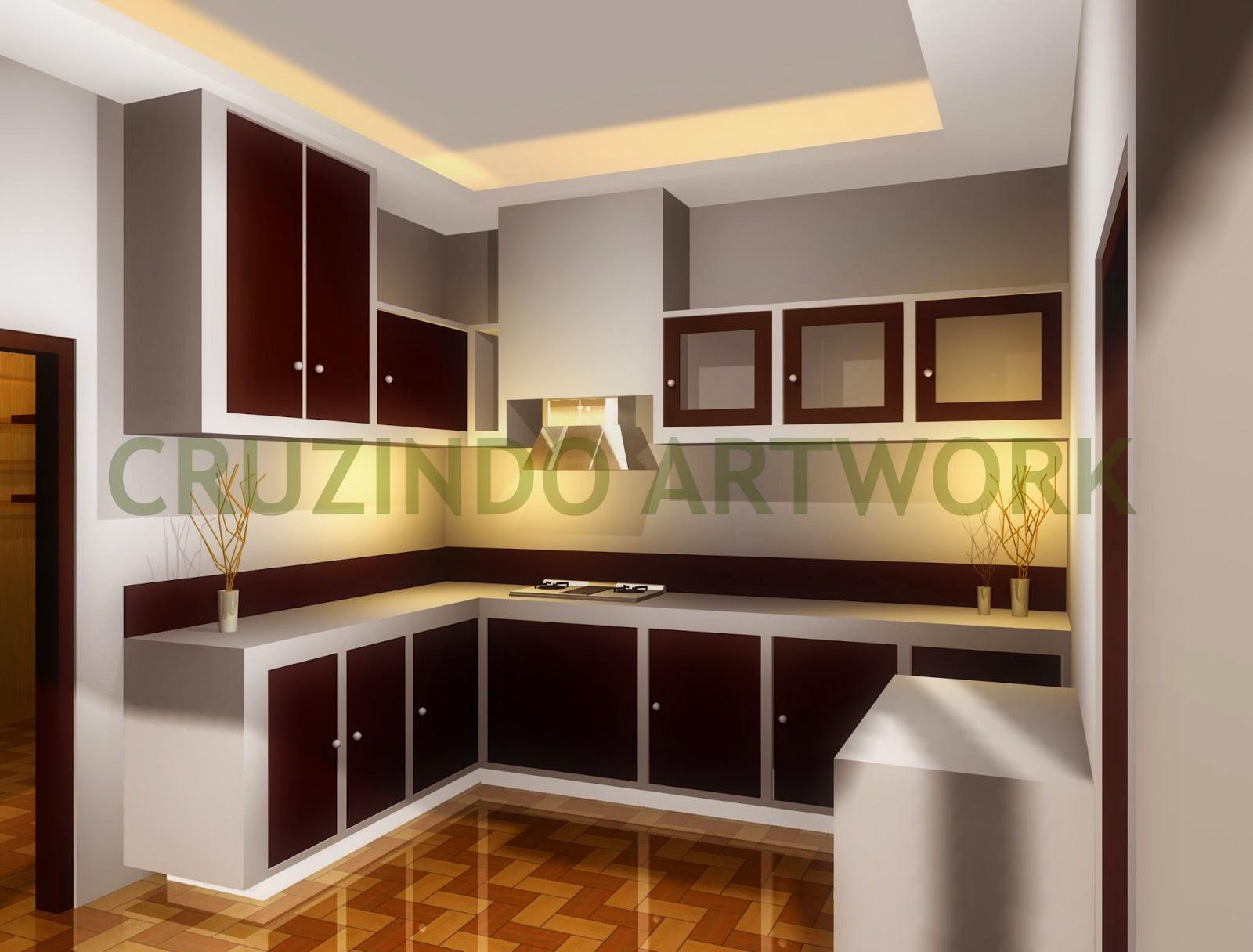 Gambar 26 model desain dapur ukuran 2x2 2x3 3x3 kecil for Kitchen set harga per meter