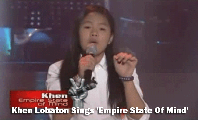 Khen Lobaton Sings 'Empire State Of Mind' on The Voice Kids Blind Audition