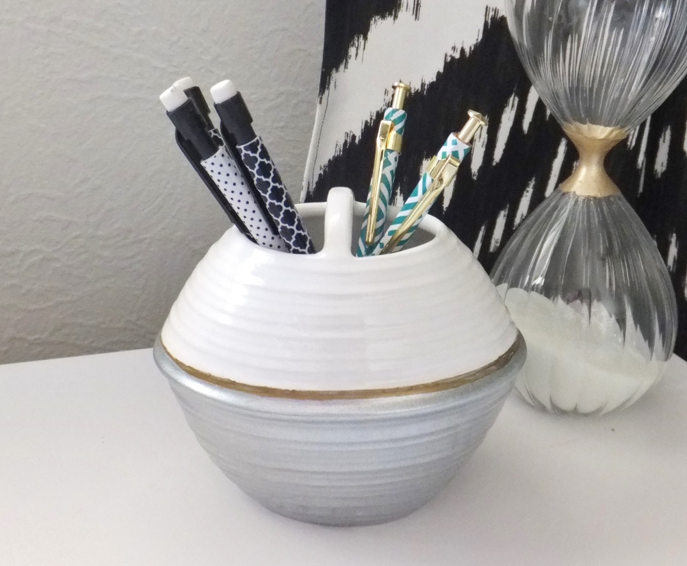 Fresh Coat of Paint: Repurpose: Toothbrush Holder Turned Pencil Holder