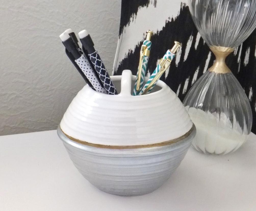 Fresh Coat of Paint: Repurpose: Toothbrush Holder Turned Pencil Holder