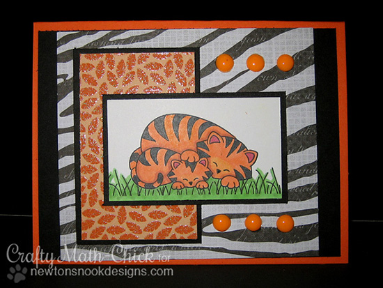 Tiger Card by Crafty Math Chick for Newton's Nook Designs | Wild Child Stamp Set