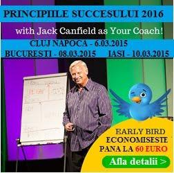 Jack Canfield vine in Romania - Transforma-ti povestea intr-una de succes