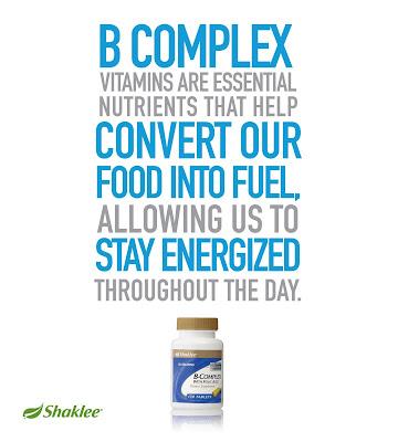 B-Complex Shaklee Untuk Cergas Bertenaga