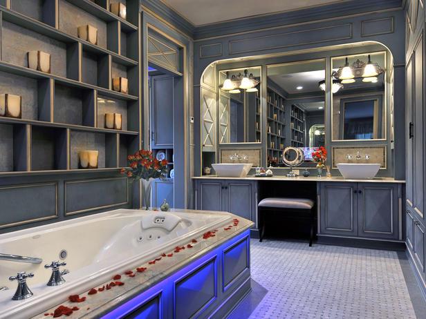Romantic bathrooms designs home interiors for Romantic bathroom designs