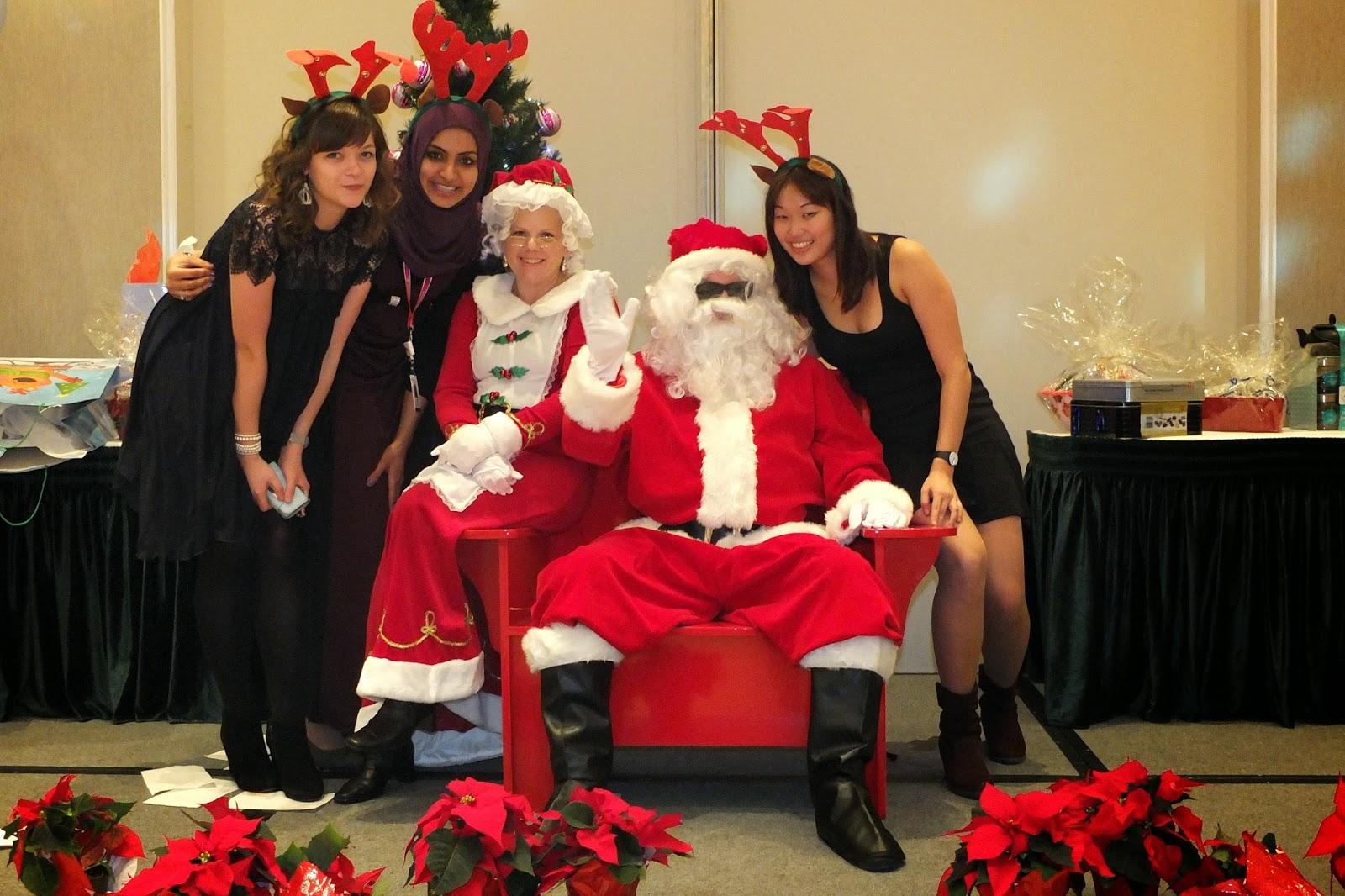 Pausing with Santa