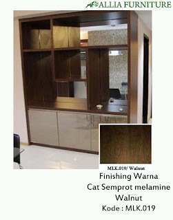 contoh furniture semprot melamine natural allia furniture