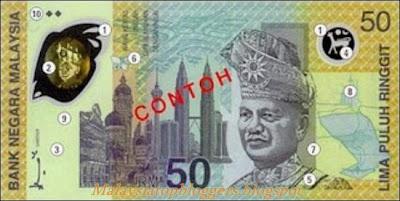 Gambar Duit RM50 Terbaru