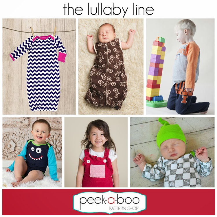 The Berry Bunch: Peek-A-Boo Pattern Shop: Lullaby Line: Bodysuit and Pants Testing