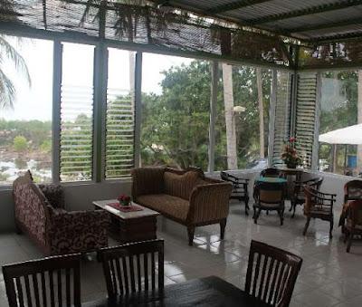 restaurant dan lobi kelapa resort