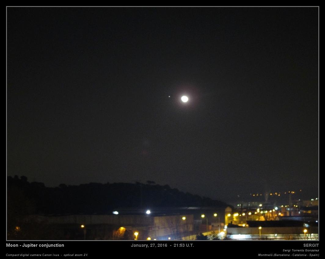 Astronom a y astrofotograf a amateur conjunci n luna - El balcon de la luna ...