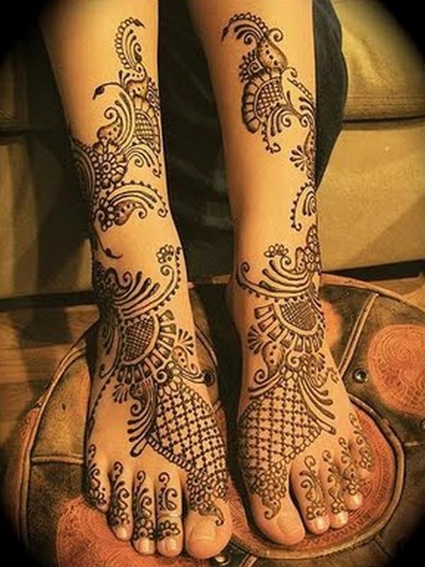 Feet Mehndi Style : Dulhan mehndi designs for feet desings