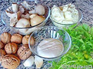 Salata de ciuperci cu nuca ingrediente reteta