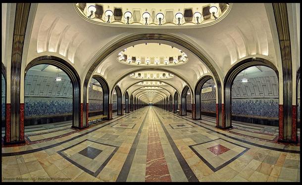 estações de metropolitano de Moscovo - Estação de Metro Mayakovskaya
