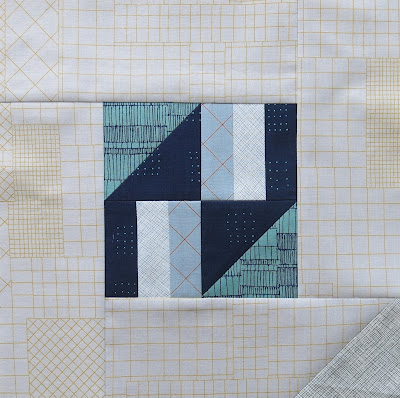 Modern sampler quilt - Block #3 - Inspired by Tula Pink City Sampler