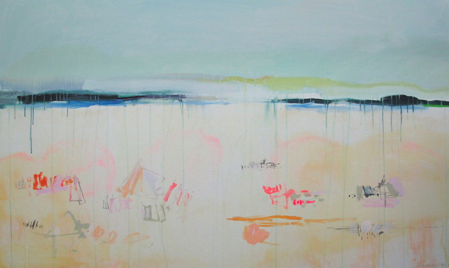 Look sally benedict 39 s amazing paintings for Beach house designs on a budget