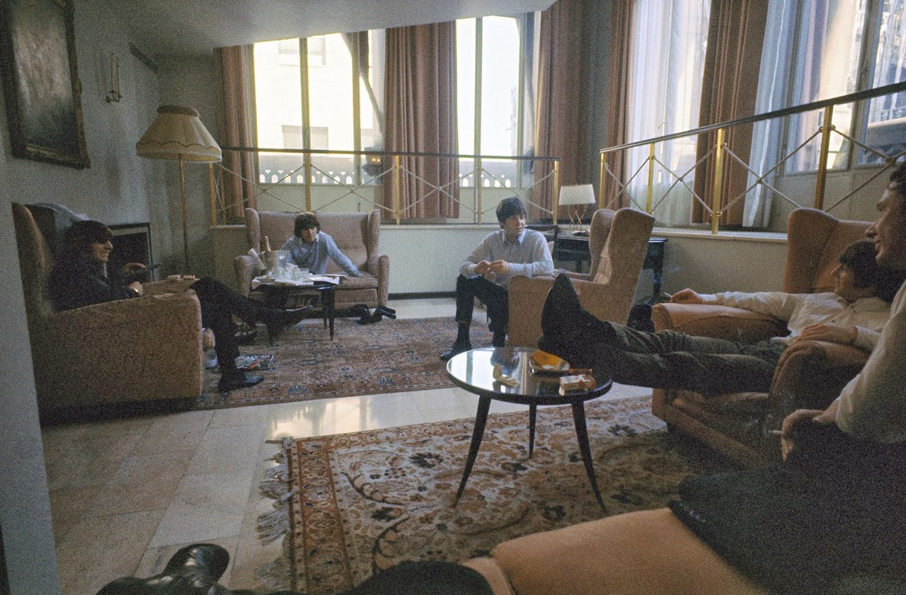 The Beatles Resting In Their George V Hotel Room Paris