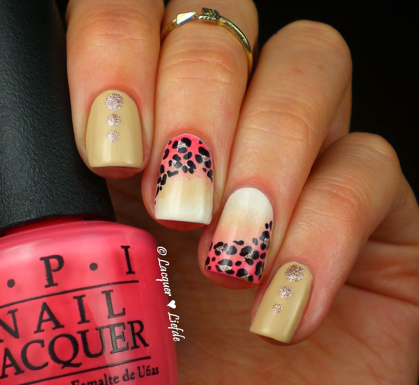 Gradient Leopard Nails Tutorial How To