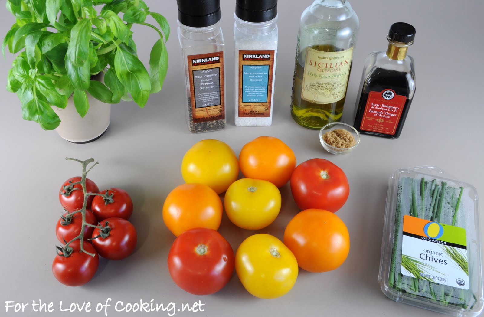 Tomato Salad with Fresh Herbs and a Balsamic Reduction | For the Love ...