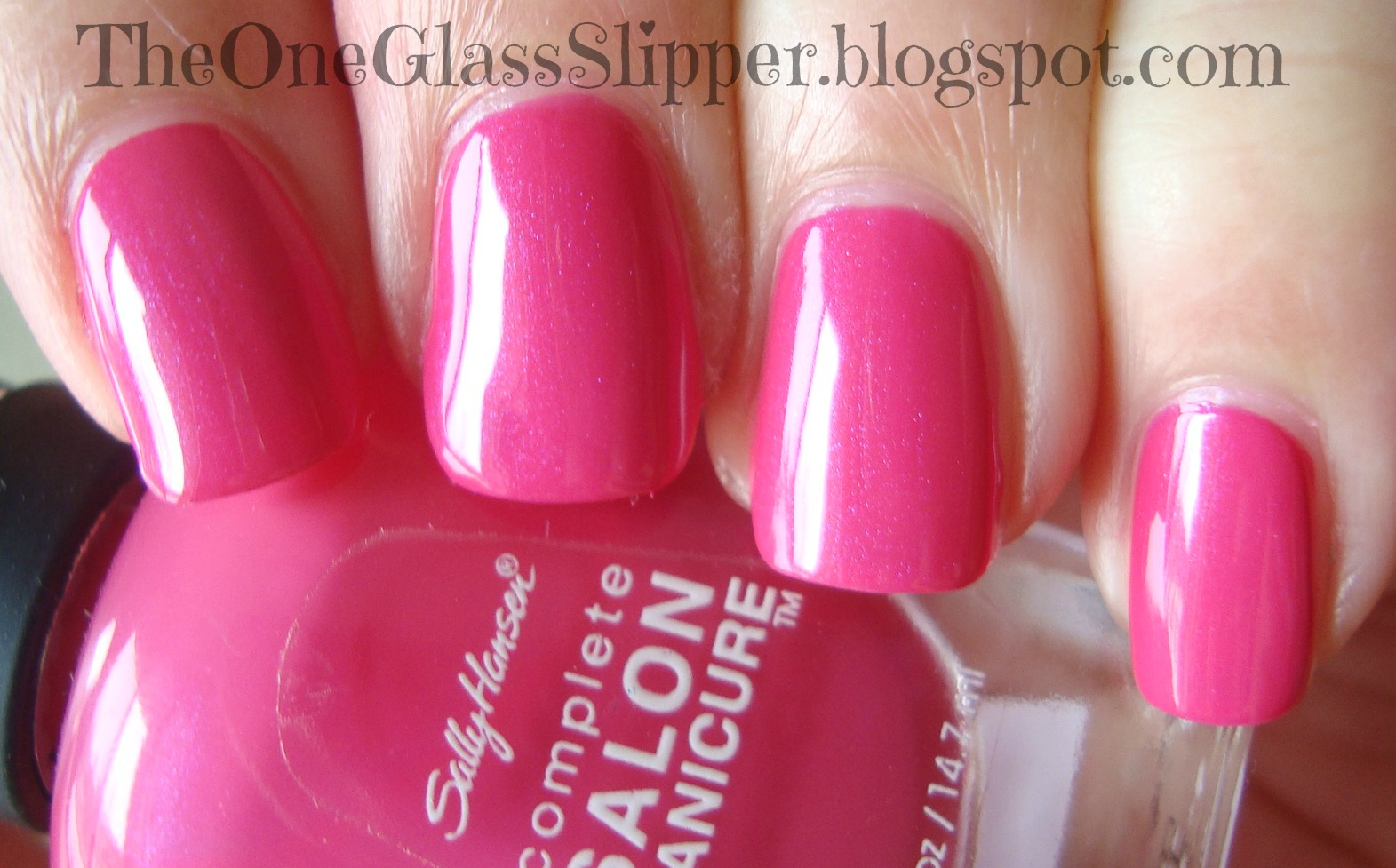 one glass slipper sally hansen back to the fuchsia. Black Bedroom Furniture Sets. Home Design Ideas