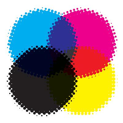 cmyk colores para cartuchos de tinta