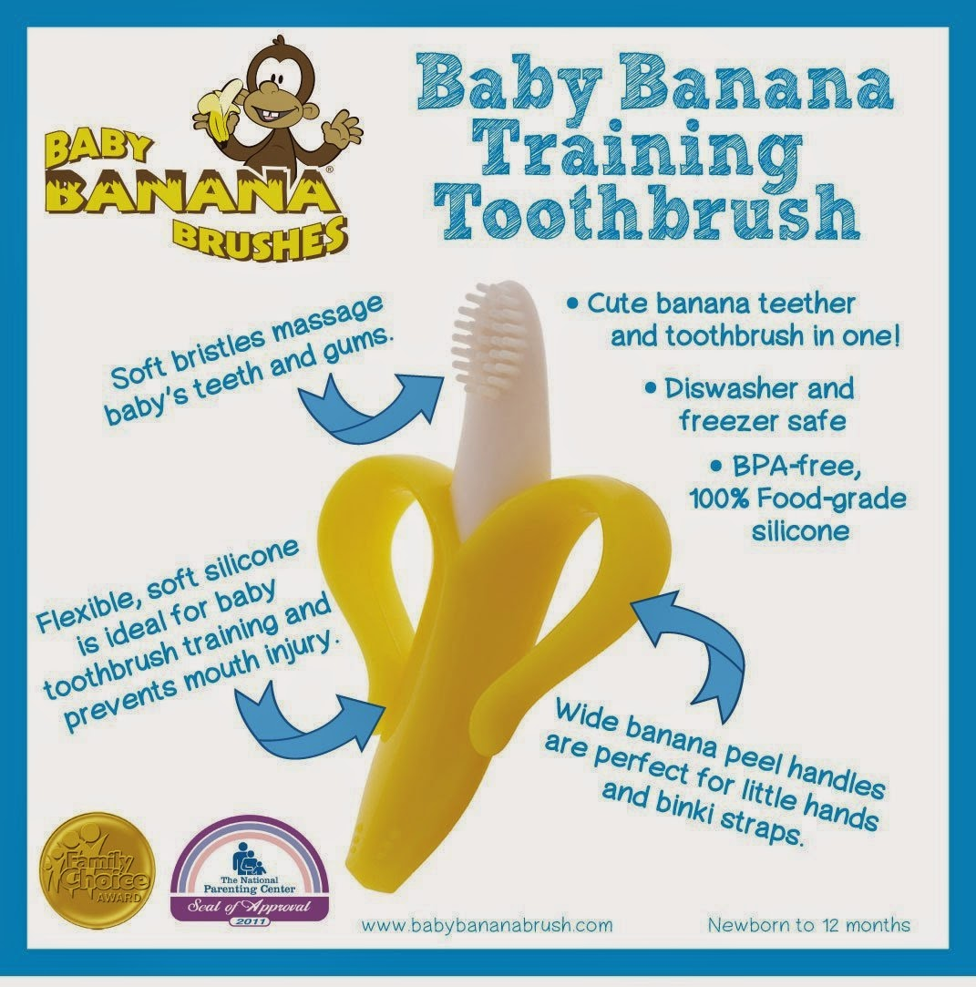 baby teeth, Baby Banana Infant Training Toothbrush