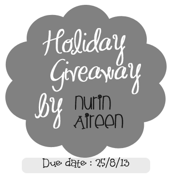 Holiday Giveaway by Nurin Aireen