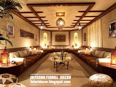 rustic false ceiling interior design ideas living room تصميمات حصرية من الاسقف الجبس واسقف معلقة 2014 للمنازل المودرن