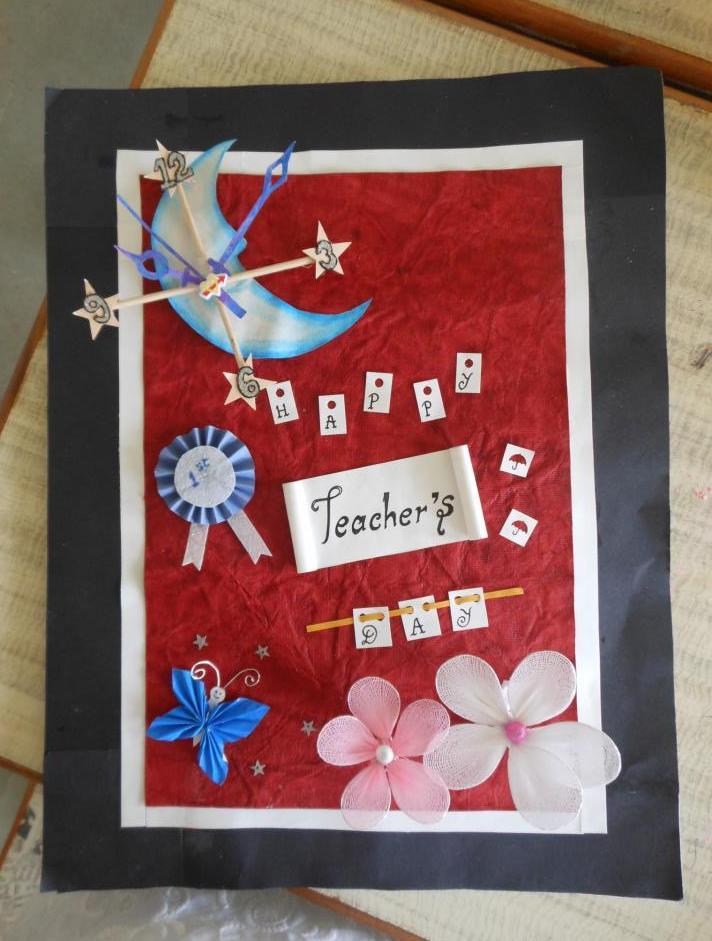 Teachers day invitation card icandy craft teachers day invitation card stopboris Choice Image