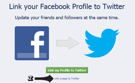 links blogger follow facebook account