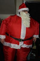 dicker aufgeblasener Weihnachtsmann