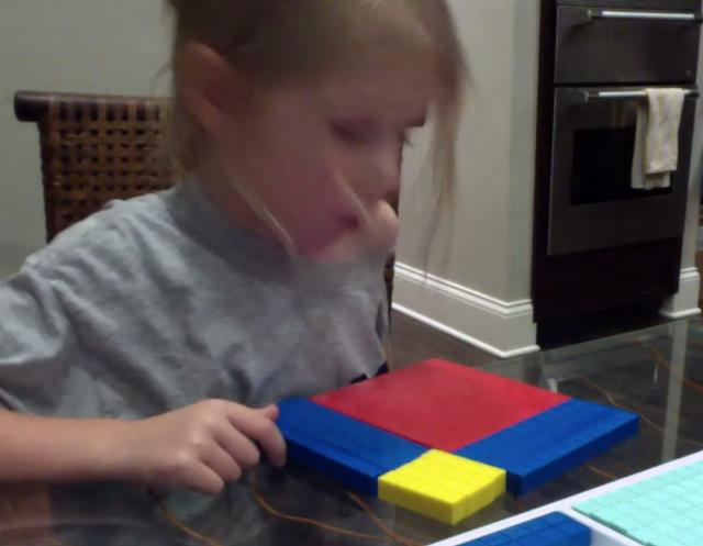 factoring polynomials, base ten blocks