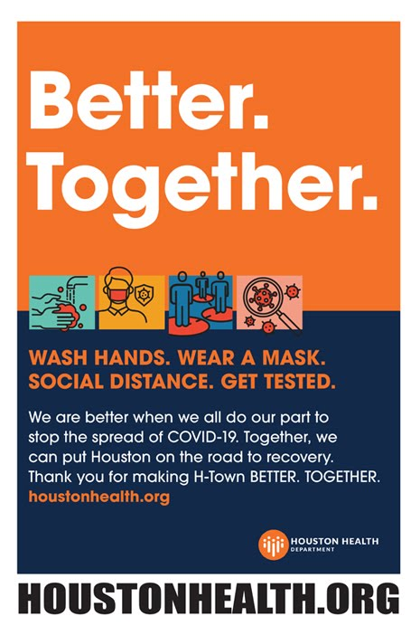 We are Better Together -- Please Wash Your Hands  -- Houston Health Department