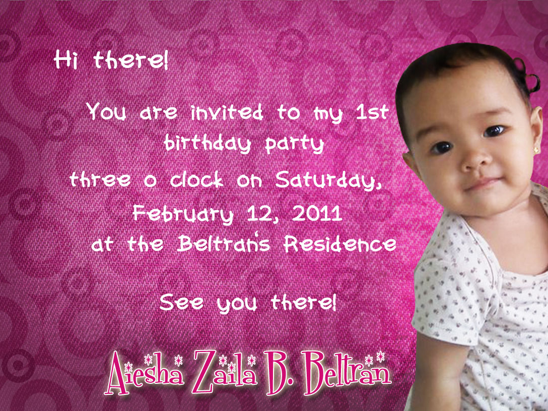 Jeanbeltran aiesha celebrates her first birthday with jollibee preparations for baby aieshas first birthday i was assigned for her invitation cards and her tarpaulin everyone says its really nice and pinky stopboris