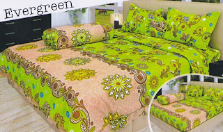 sprei Lady Rose Evergreen