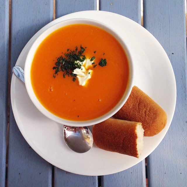 Vegan Sweet Potato Pumpkin and Carrot Soup