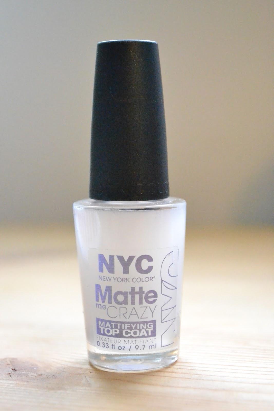 Javiera Valentina (Makeup blog): Matte Nail polish (NYC Matte Me Crazy)