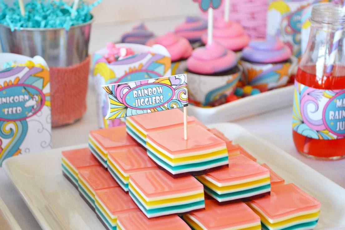 Rainbow Cherry Jigglers Recipe — Dishmaps